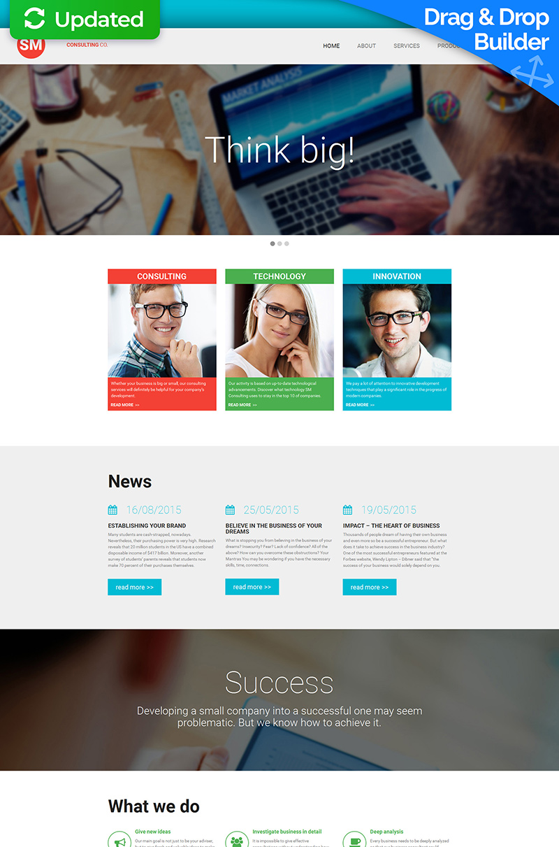 Consulting Responsive Moto CMS 3 Template - screenshot
