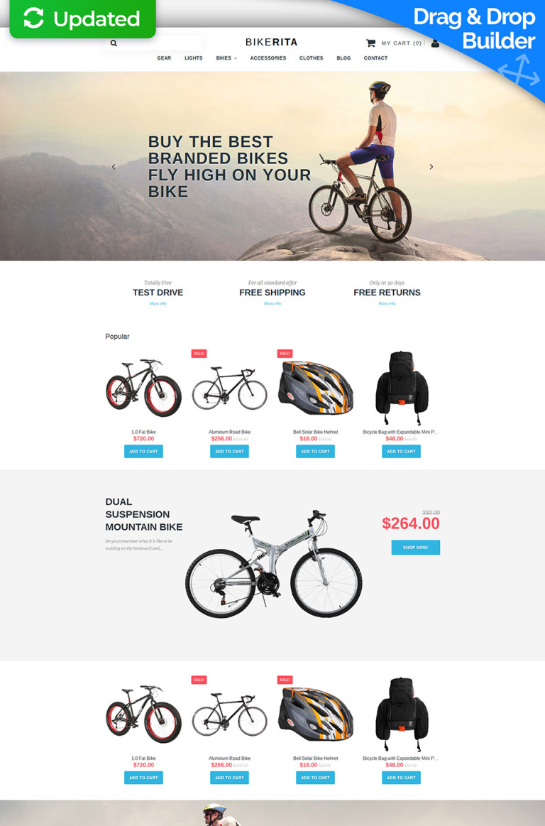 Cycling Responsive MotoCMS Ecommerce Template New Screenshots BIG