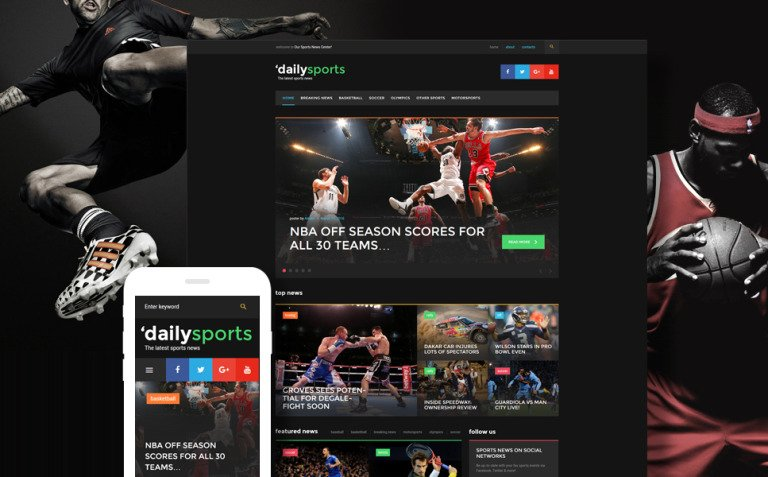 DailySports - Sport Magazine WordPress Theme New Screenshots BIG