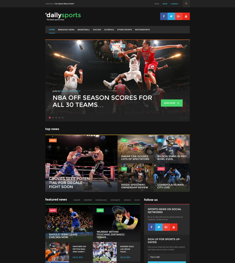 DailySports - Sport Magazine WordPress Theme