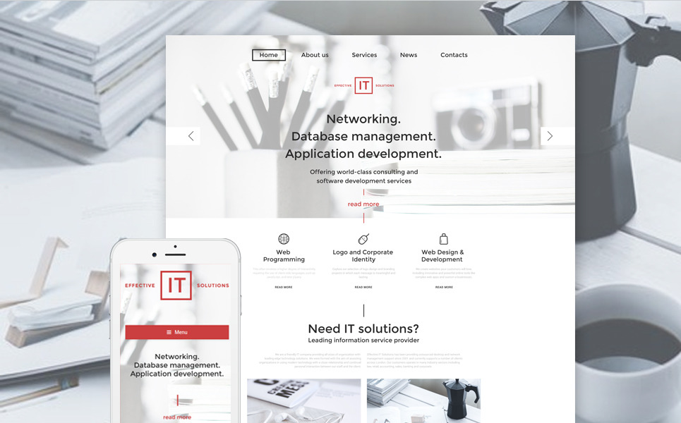 Effective IT Solutions WordPress Theme New Screenshots BIG