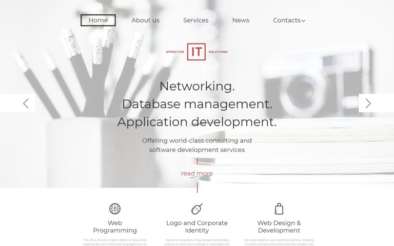 Effective IT Solutions WordPress Theme New Screenshots BIG