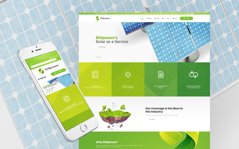 EMpower - Solar Energy Shopify Theme New Screenshots BIG