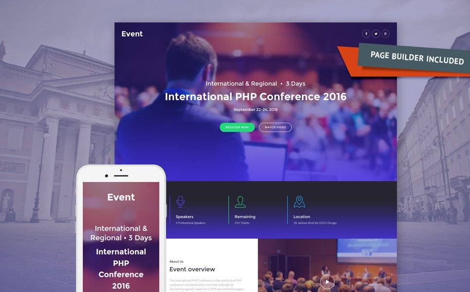Event Planner Responsive Landing Page Template New Screenshots BIG