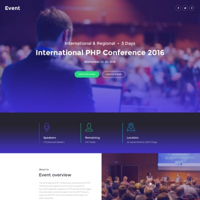 Event planner responsive landing page template 58491 event planner responsive landing page template pronofoot35fo Image collections