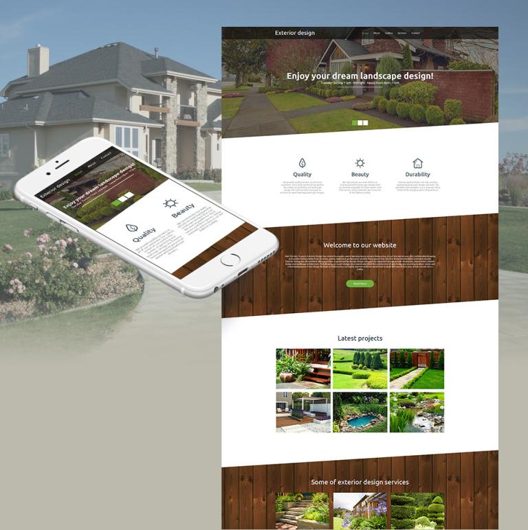 Exterior Design Moto CMS HTML Template New Screenshots BIG