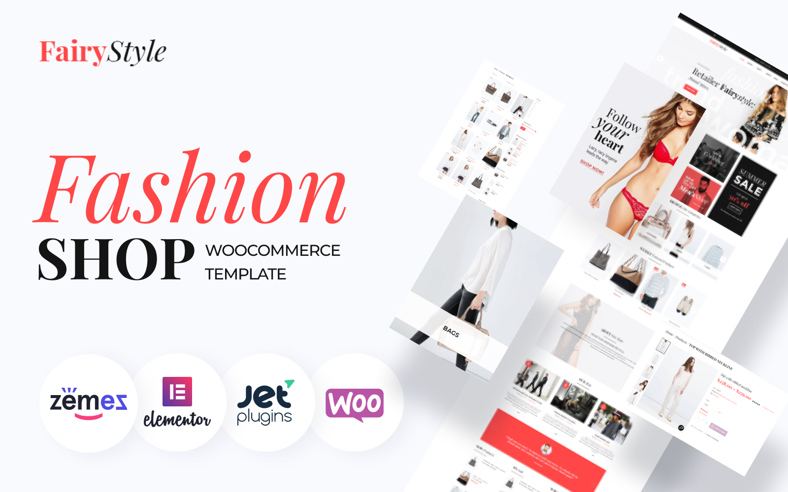 """Fairy Style - Fashion Store"" Responsive WooCommerce Thema №58499"