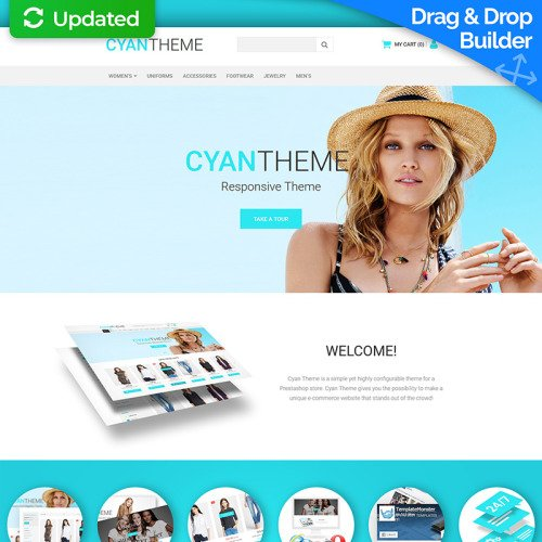 Cyan Theme - MotoCMS Ecommerce Template based on Bootstrap