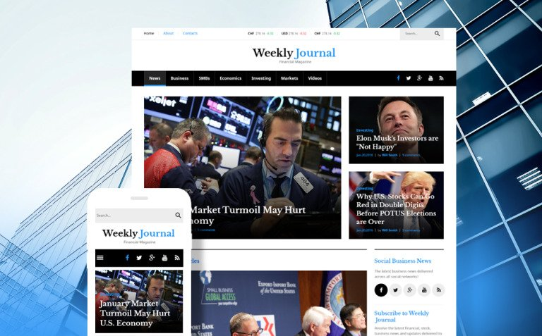 Financial News & Magazine WordPress Theme New Screenshots BIG