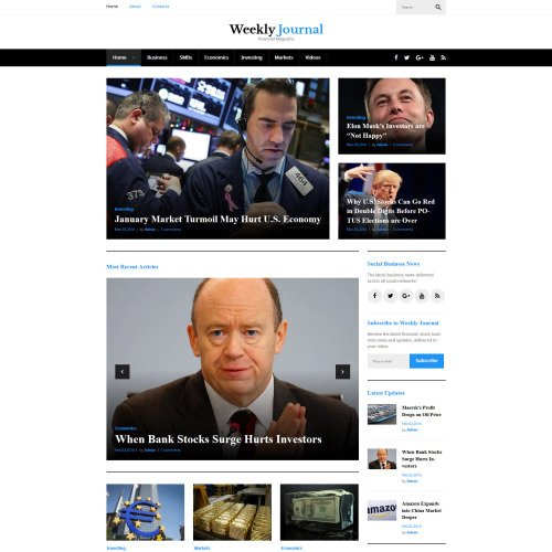 Weekly Journal - Responsive WordPress Template