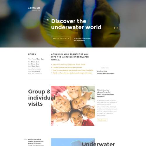 Aquarium - Responsive Landing Page Template