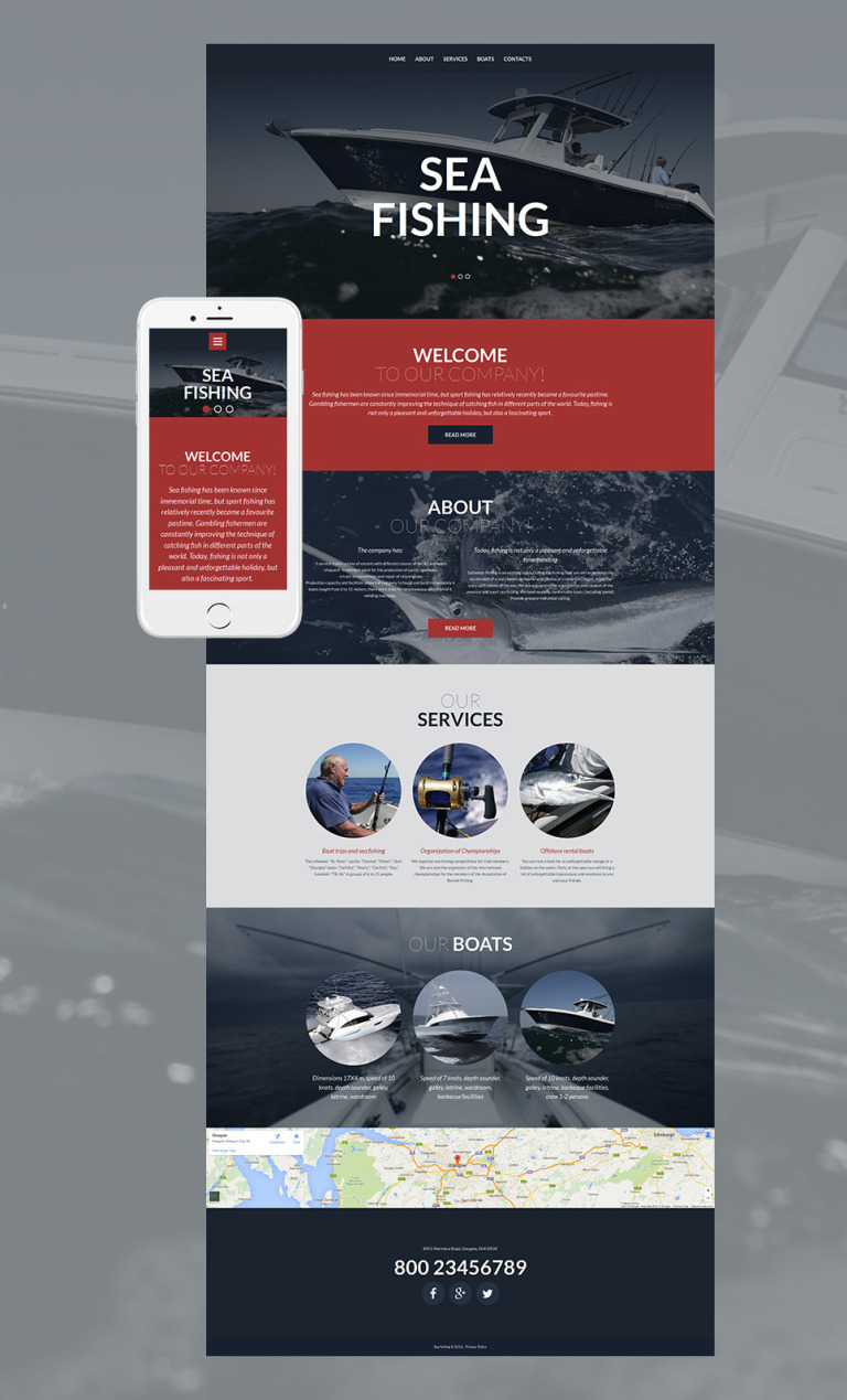 Fishing Responsive Moto CMS 3 Template New Screenshots BIG
