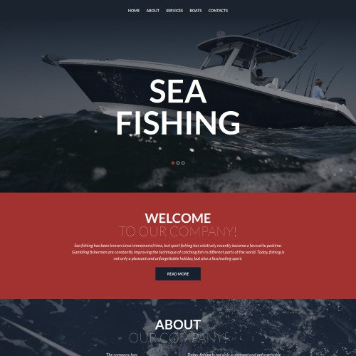Sea Fishing - MotoCMS 3 Template based on Bootstrap