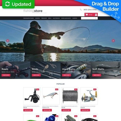 Fishing Store - MotoCMS Ecommerce Template based on Bootstrap