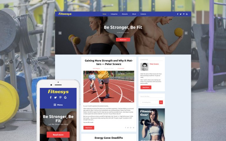 Fitnesys - Fitness & Gym Blog WordPress Theme New Screenshots BIG