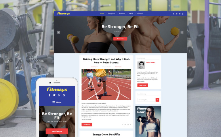 Fitnesys - Fitness & Gym Blog WordPress Theme