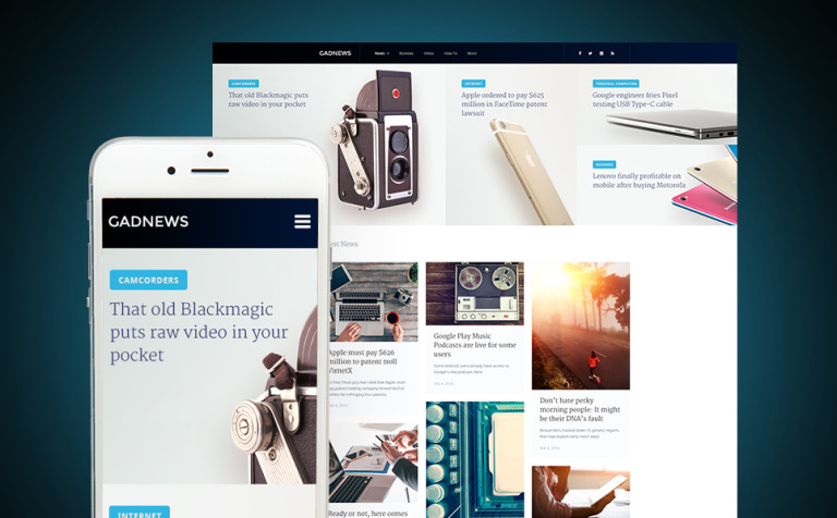 Gadnews - Technology Review Magazine WordPress Theme