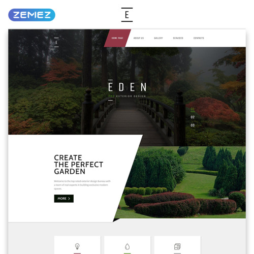 Eden - Responsive Website Template