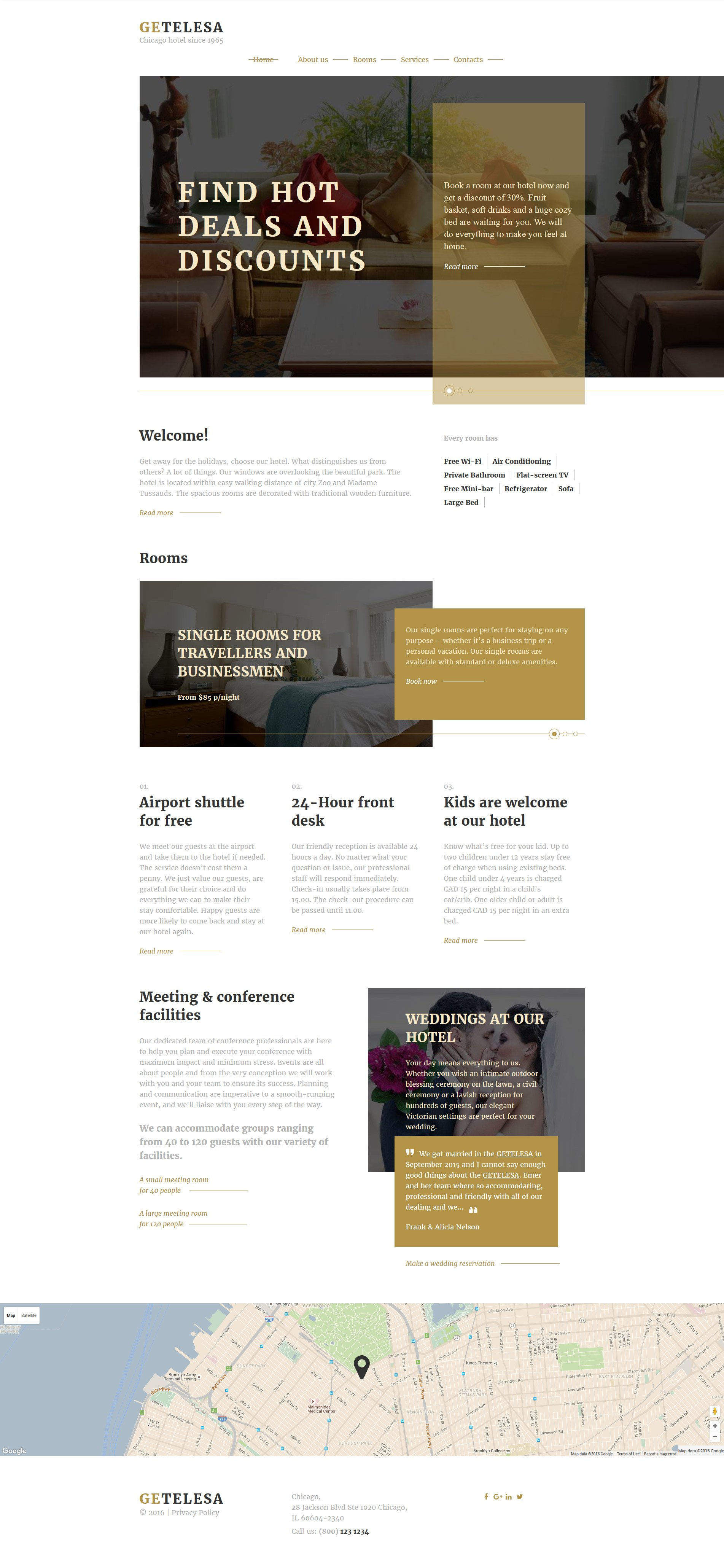 Hotel Website Templates Free Virtren Com