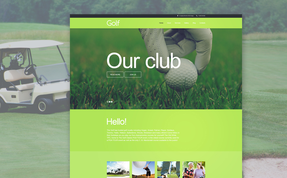 Golf Muse Template #58498