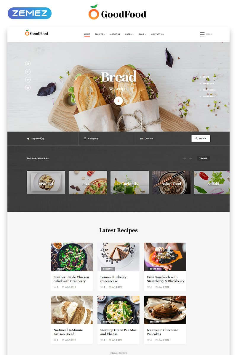 GoodFood - Restaurant Clean Multipage HTML5 Website Template - screenshot