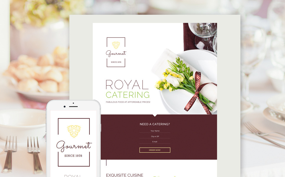 Gourmet Landing Page Template New Screenshots BIG