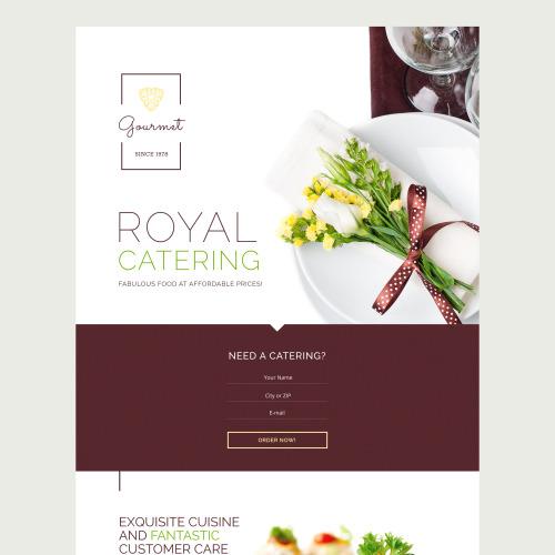 Gourmet - Responsive Landing Page Template
