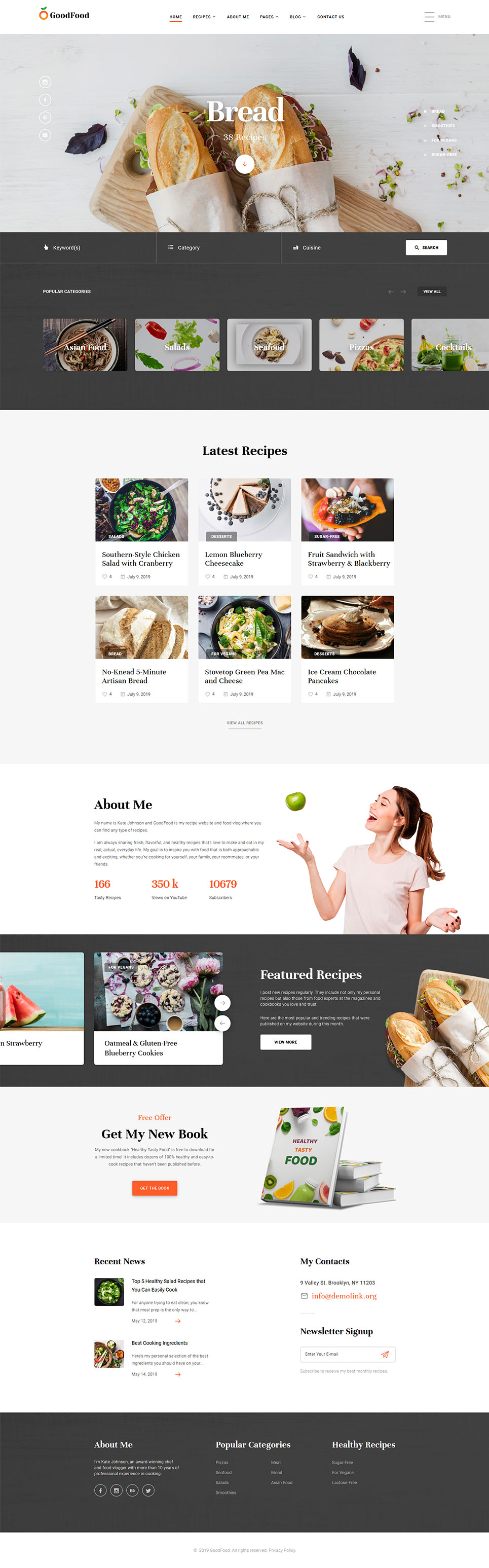 recipe layout templates