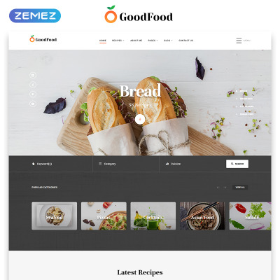10 Best Cooking Website Templates