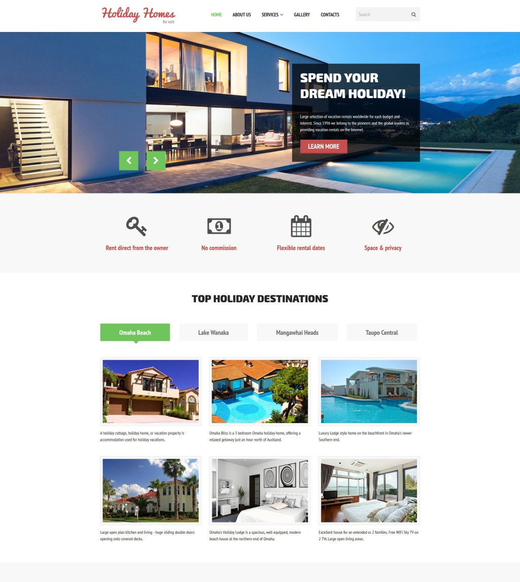 Rental Site: Home Rent Website Template