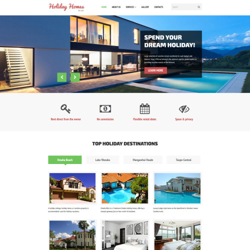 Holiday Homes - Responsive Website Template
