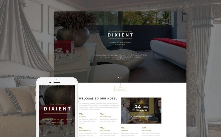 Hotels Responsive Landing Page Template New Screenshots BIG