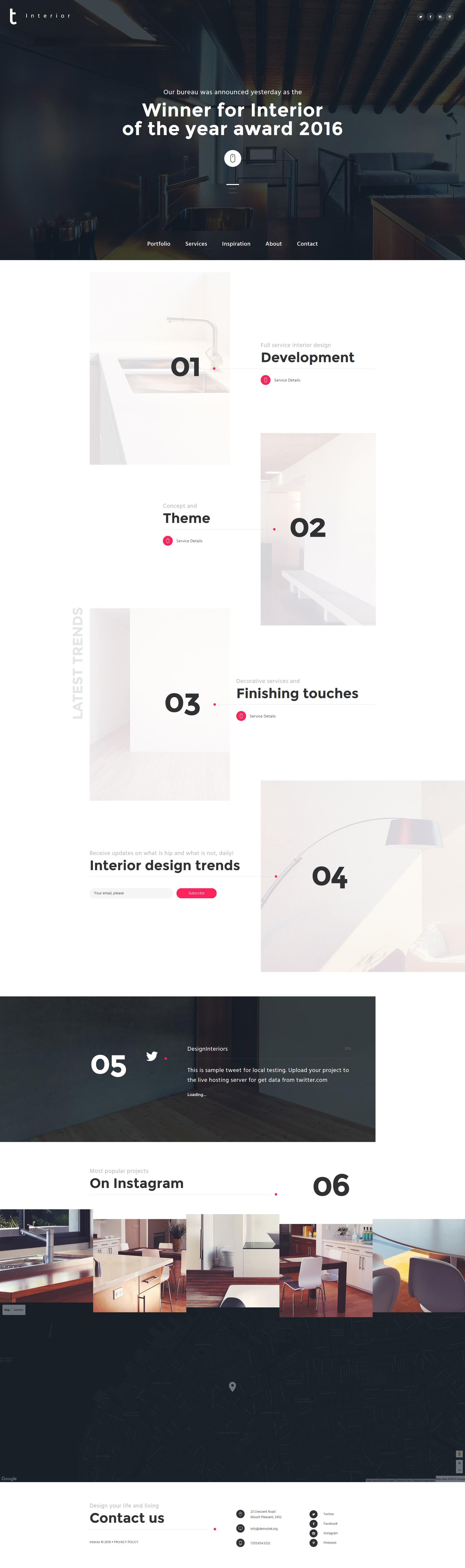 Interior  Furniture Website Template - screenshot