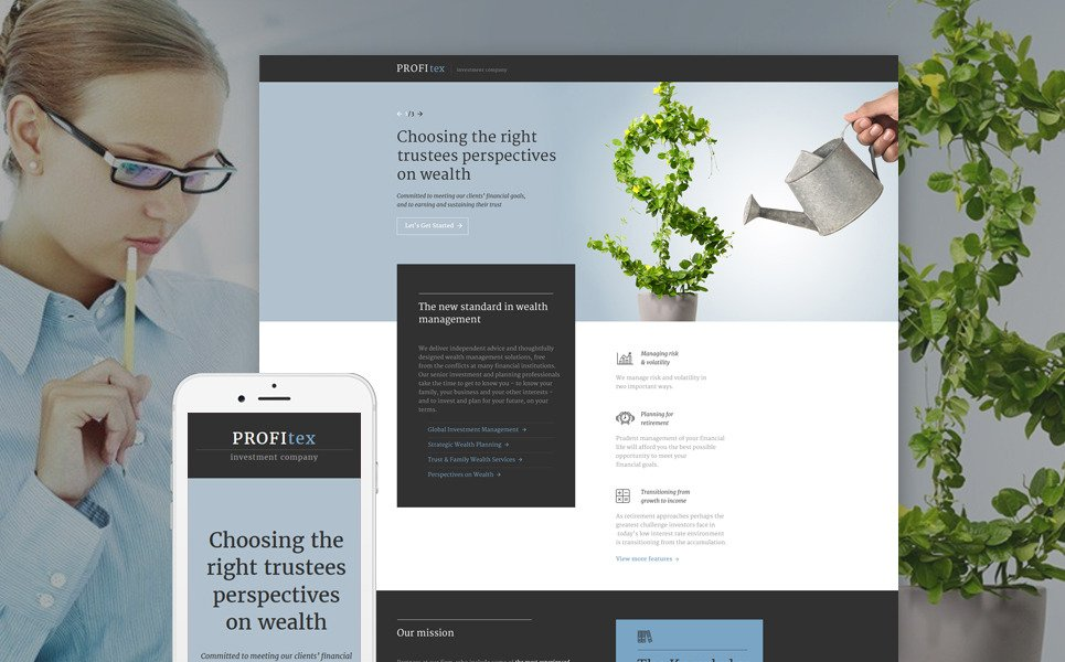 Investment Company Responsive Landing Page Template New Screenshots BIG