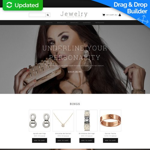 Jewelry - MotoCMS Ecommerce Template based on Bootstrap