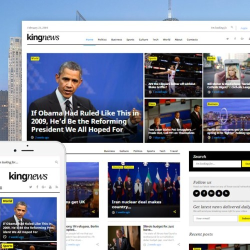 KingNews  - WordPress Template based on Bootstrap