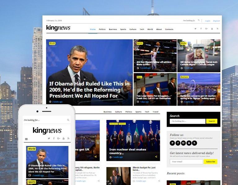 Tema de WordPress #58404 para Sitio de Portal de Noticias
