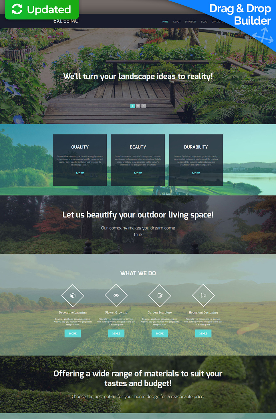 Landscape Design Responsive Moto CMS 3 Template New Screenshots BIG