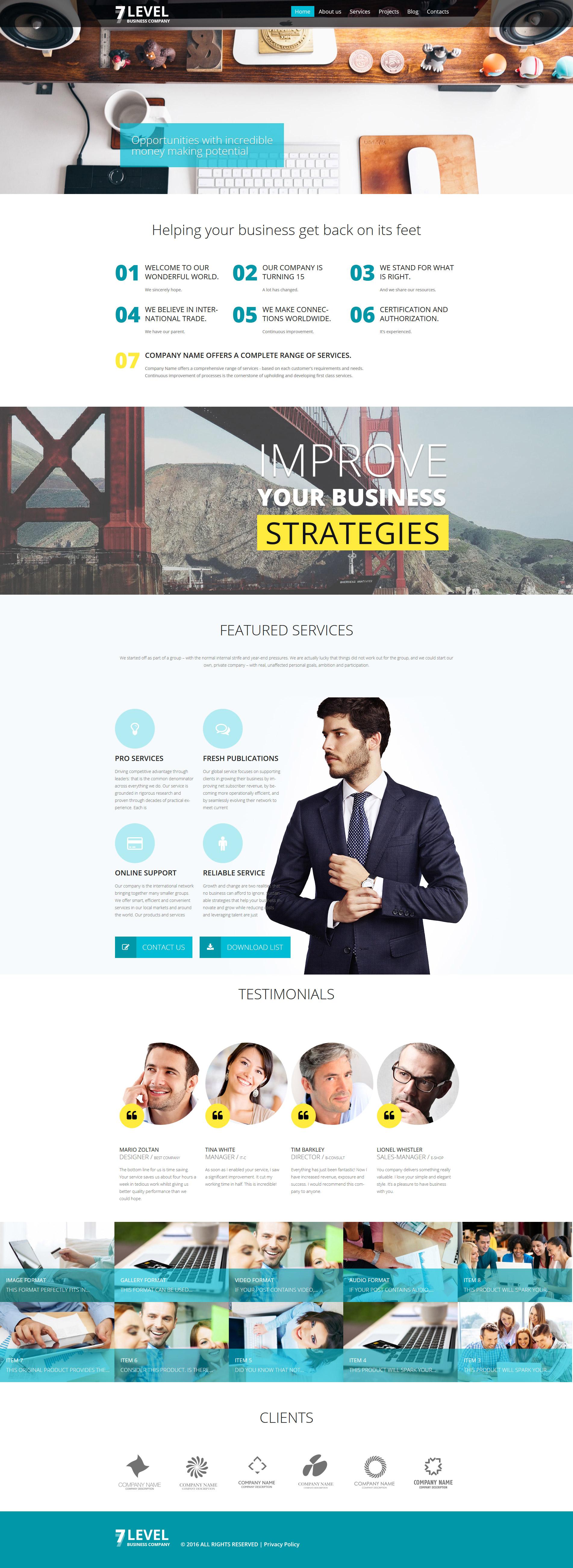 7 Level WordPress Theme - screenshot