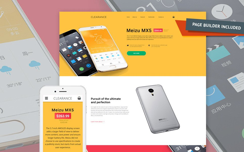 Mobile Repair Service Responsive Landing Page Template New Screenshots BIG