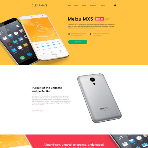 Clearance - Responsive Landing Page Template