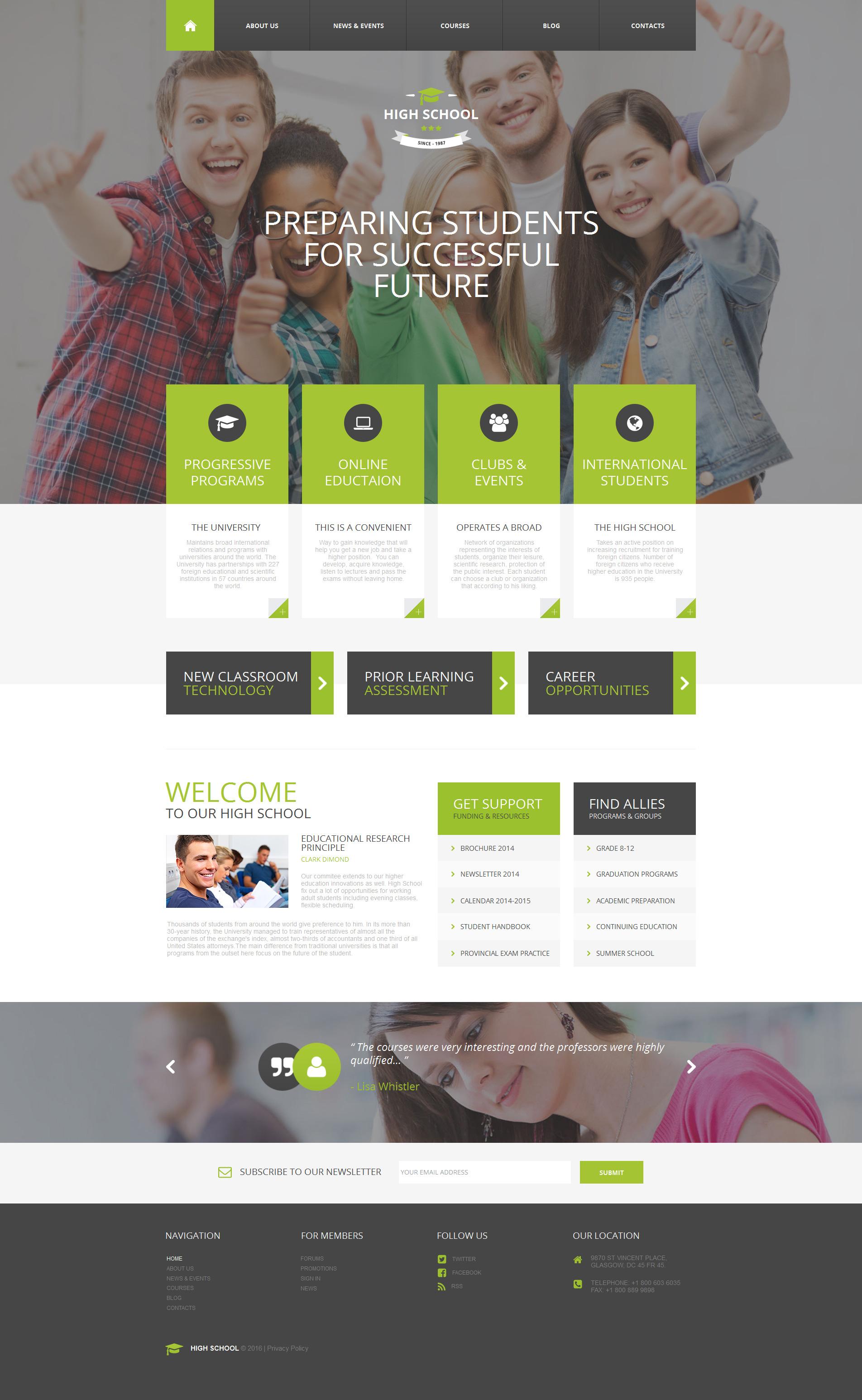 Modèle Moto CMS HTML Premium pour site d'éducation #58469