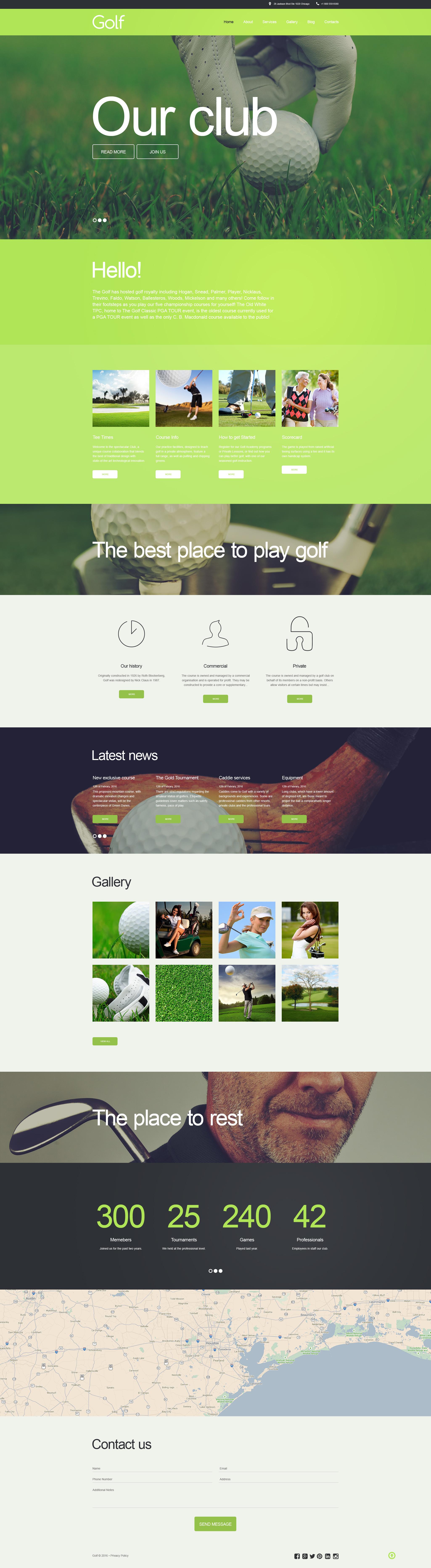 Modèle Muse pour sites de golf #58498