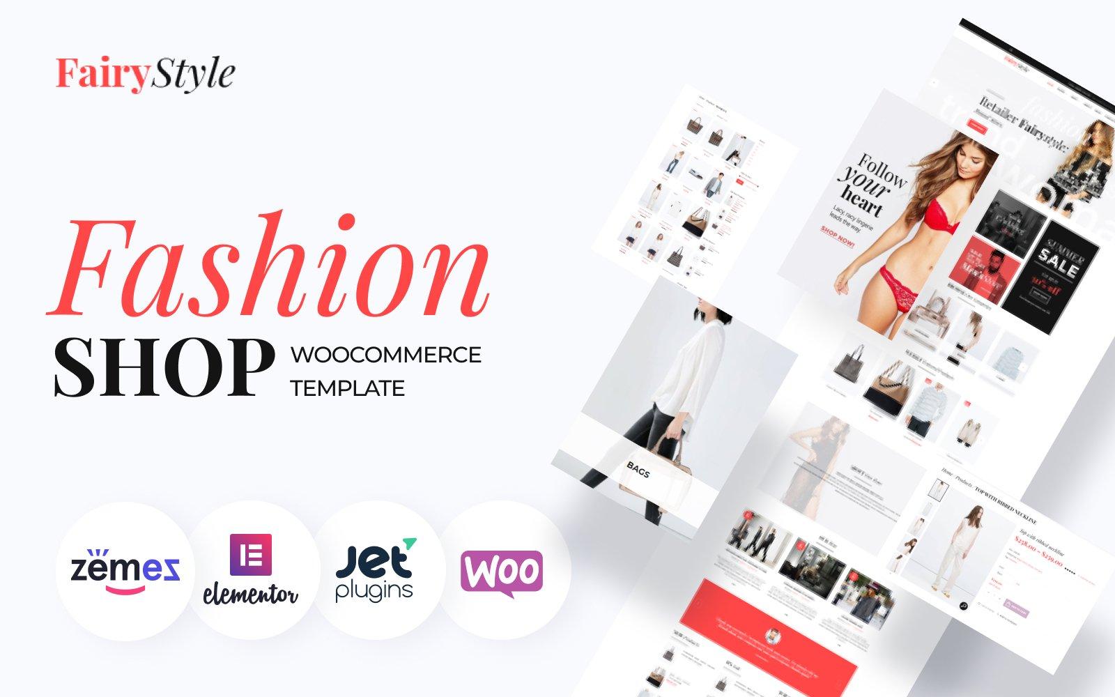 "Modello WooCommerce Responsive #58499 ""Fairy Style - Fashion Store"""