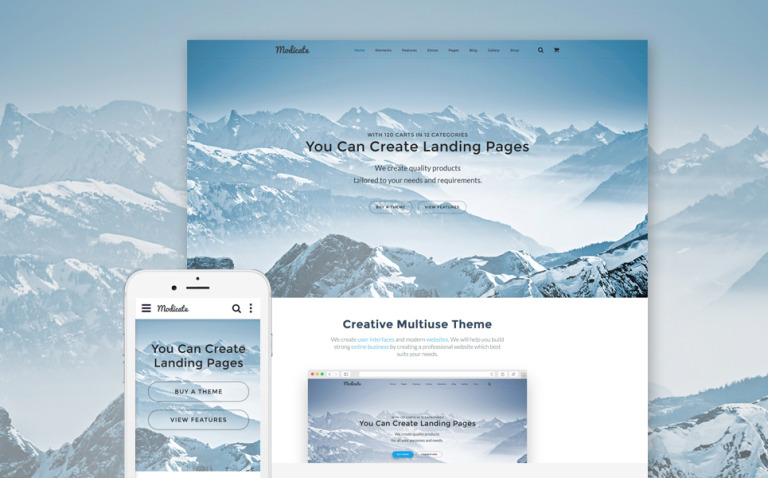 Modicate Multipurpose Website Template New Screenshots BIG