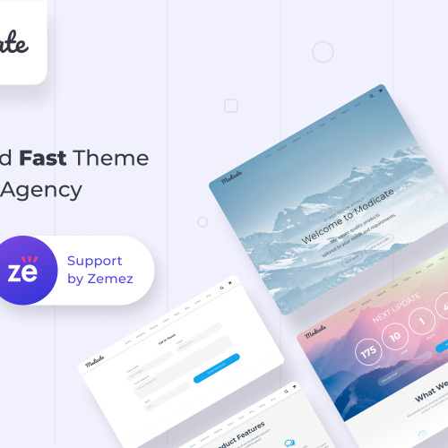 Modicate - Multipurpose Website Template based on Bootstrap