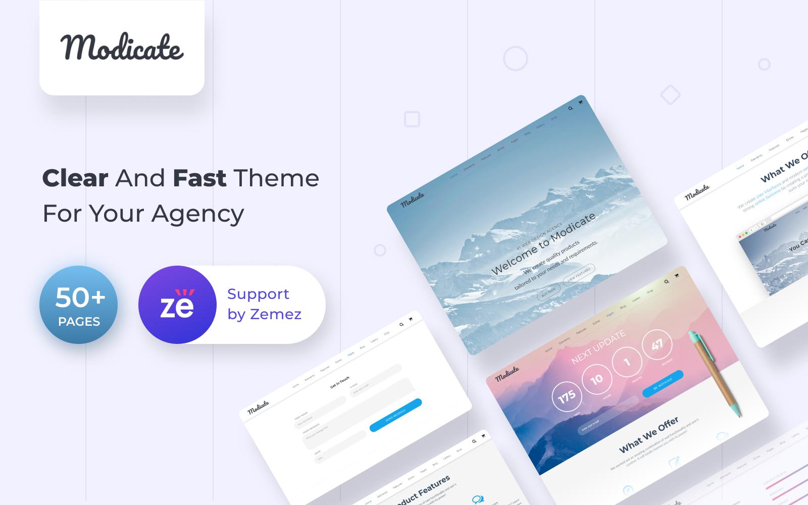 Modicate - Web Design Studio Website Template - screenshot