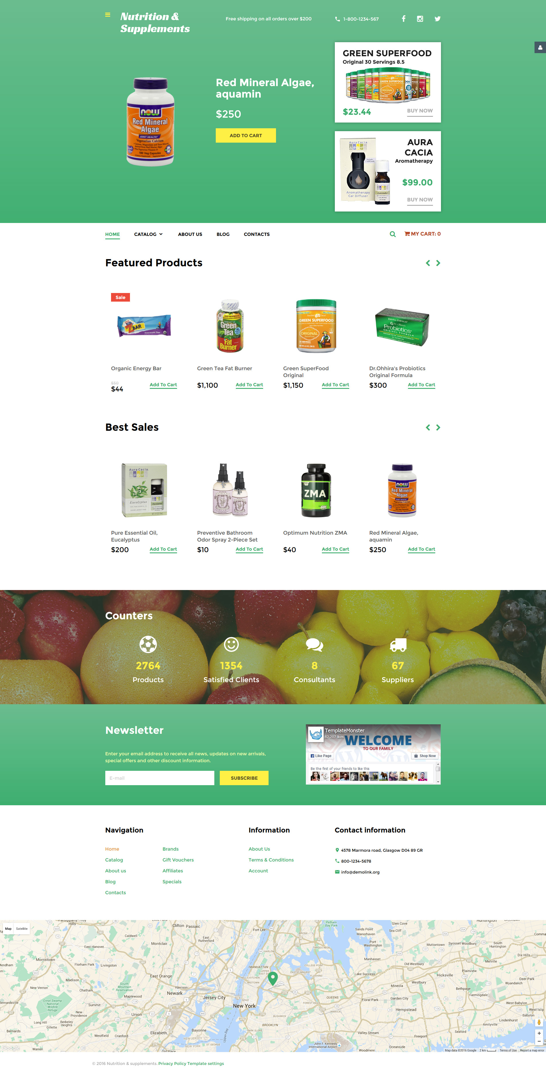 """Nutrition  Supplements"" - VirtueMart шаблон №58495"