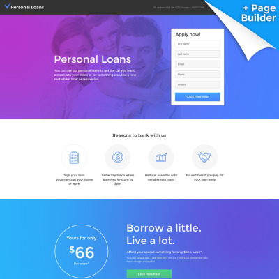 Financial Advisor Responsive Landing Page Template - Website landing page templates