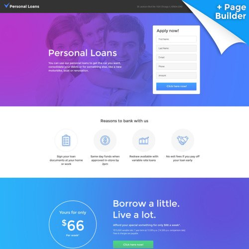 Personal Loans - Responsive Landing Page Template
